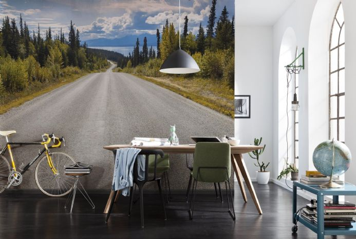 Road to the lake - wall mural photo wallpapers | Shop